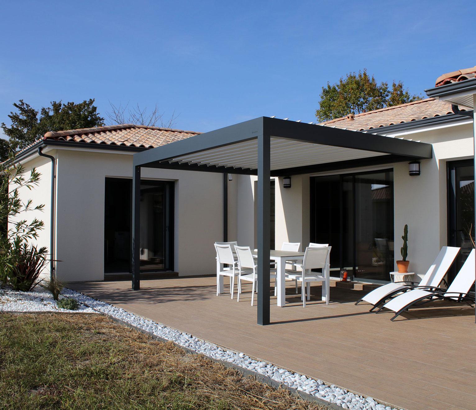 villa contemporaine pergola