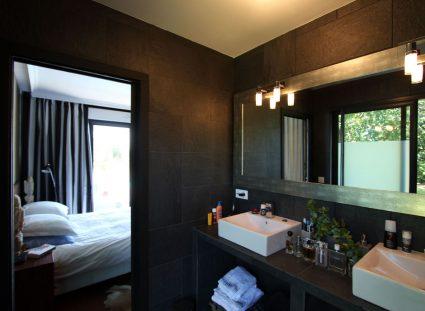 une maison bois salle de bain double vasque