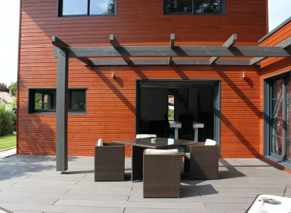villa bois igc avec grande terrasse