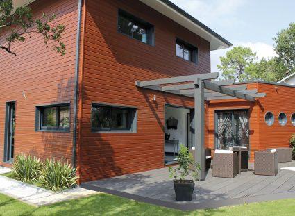 villa bois igc avec terrasse
