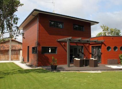 villa contemporaine bois igc