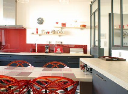 villa contemporaine cuisine bistro parisien