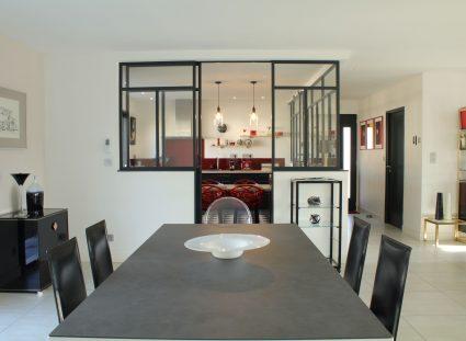 villa contemporaine espace cuisine