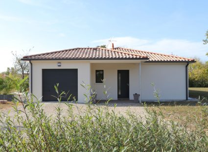 villa contemporaine facade avant