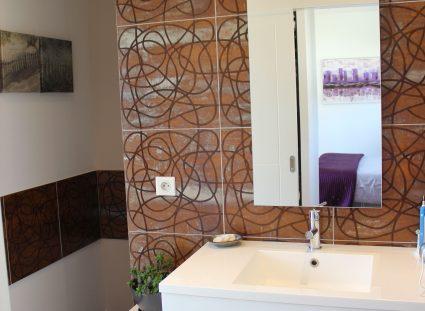 villa lignes épurées salle d'eau