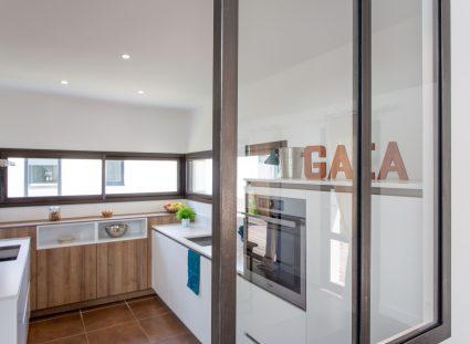 maison gaia Homexpo avec cuisine ouverte