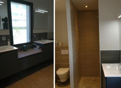 salle de bains dans maison neuve à royan