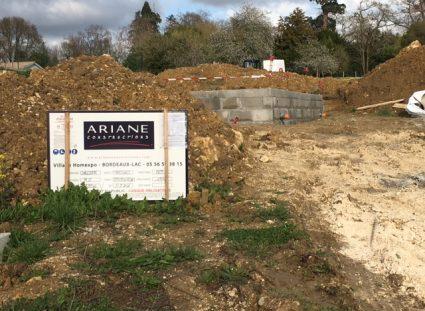 chantier maison plain pied ariane constructions