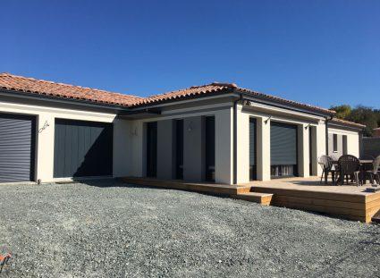 chantier maison plain pied contemporaine