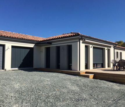 chantier maison plain pied carré ariane constructions