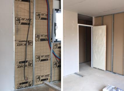 chantier maison de plain-pied isolation thermique
