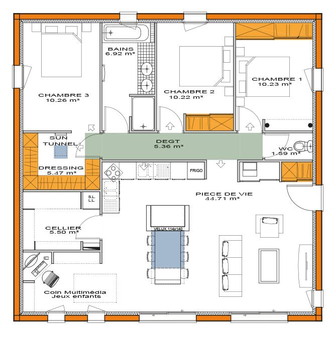 plan de maisons sans côtes