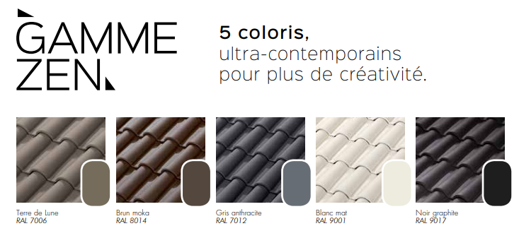 tuiles gamme romane 5 coloris