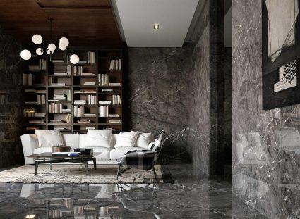 carreaux de marbre au mur et au sol