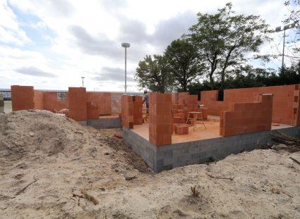 maison en construction élévation des murs