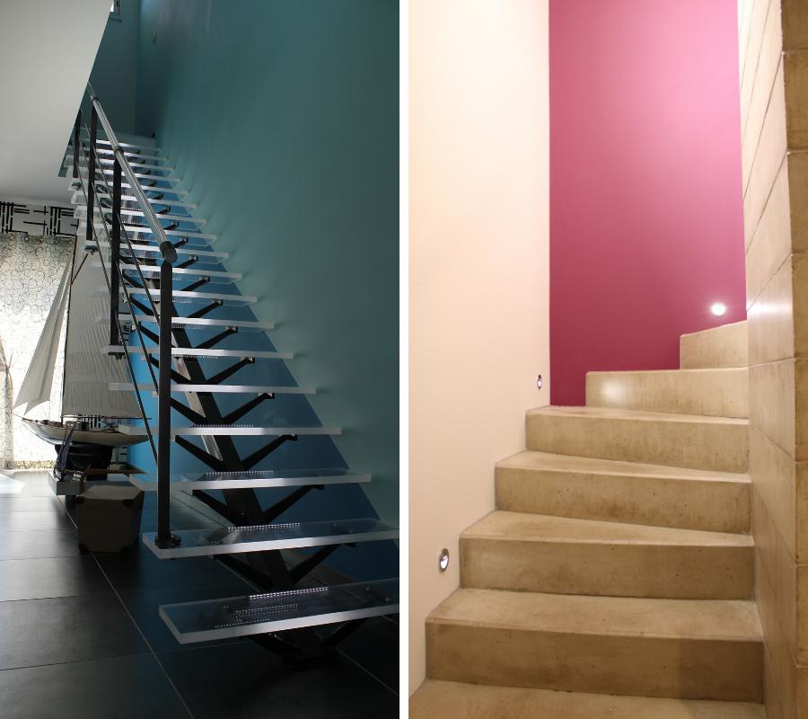 comment choisir un escalier en verre ou en pierre