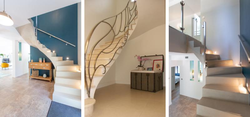 escalier beton dans séjour
