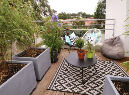 terrasse avec ambiance cosy