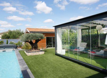 terrasse avec aménagement extérieur original