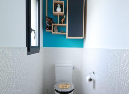 toilettes avec carrelage blanc texture