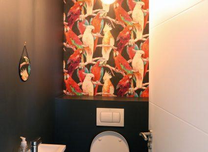 toilettes avec des motifs