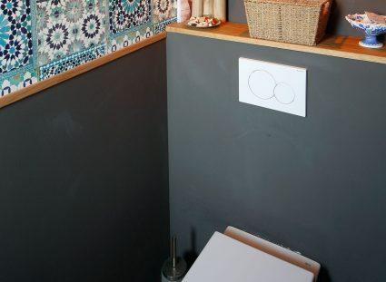 toilettes carrelage à motifs carreaux
