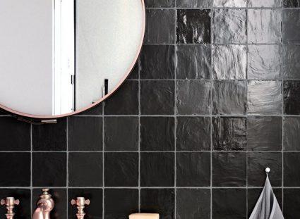 salle de bain zellige noir