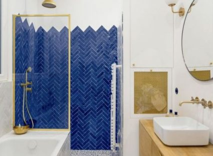 Diffusion céramique Douche Bejmat Bleu