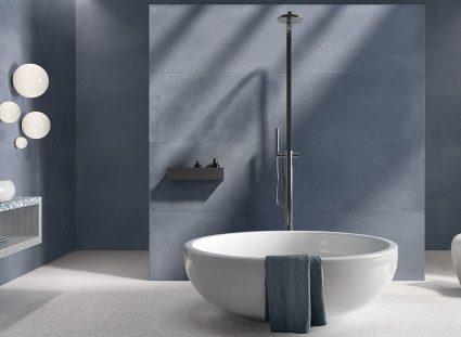 granito tons bleus pour salle de bains zen