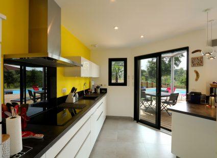 cuisine moderne jaune