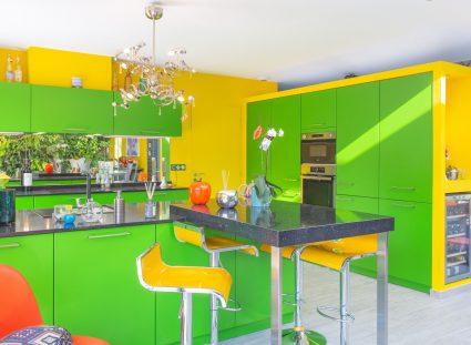 cuisine pop art jaune verte