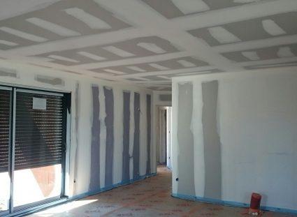 maison en construction cloisons