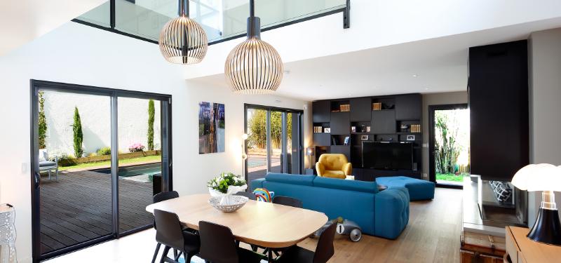 aménagement intérieur d'une maison d'architecte
