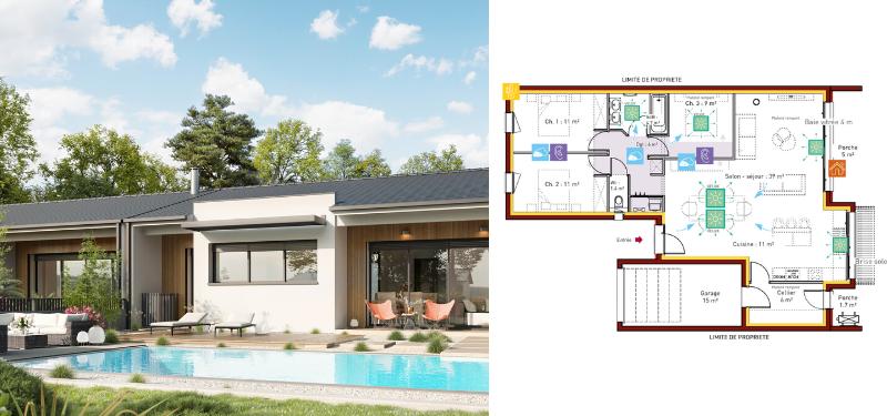 modèle de maison IGC 100 m²