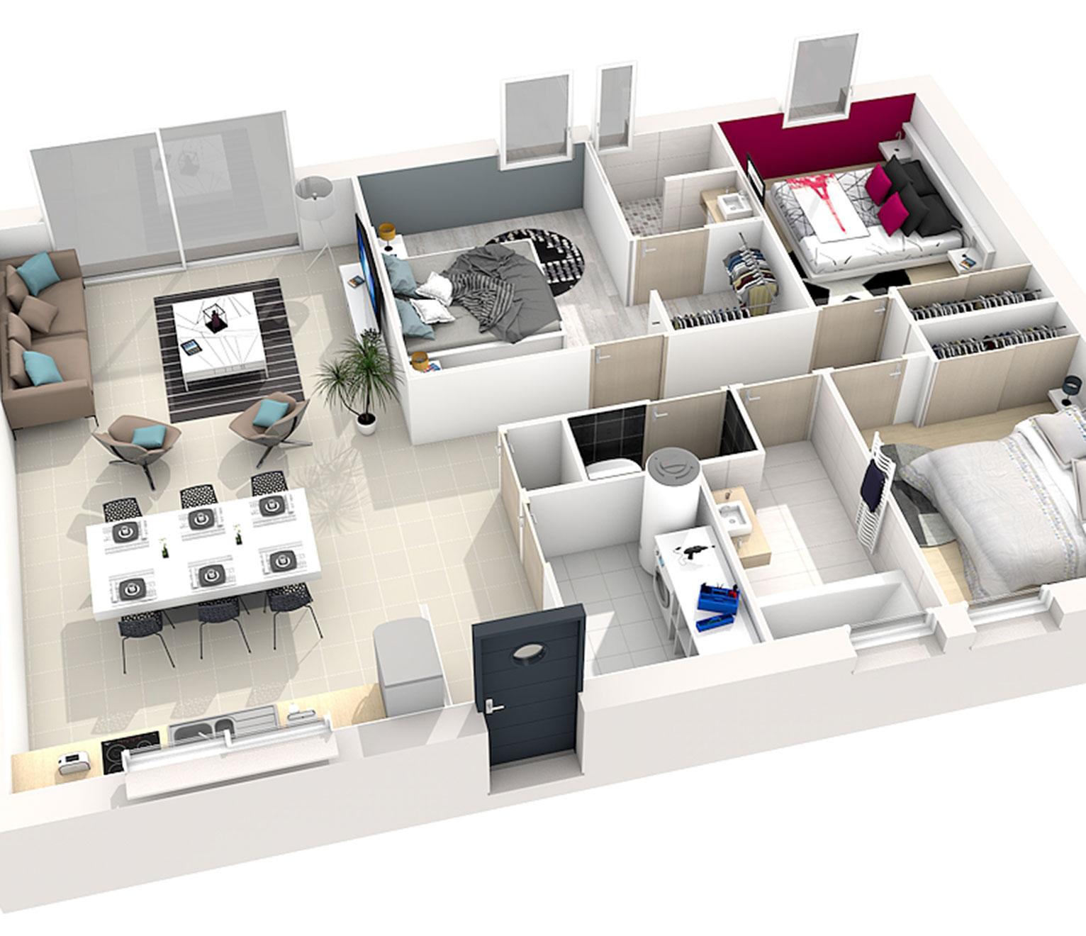 Maison de 12 m²  12 idées d'agencement intérieur   Quel ...