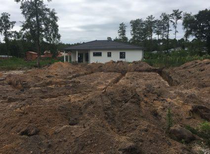 implantation maison en construction