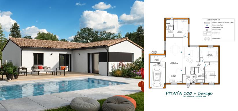 modèle maison 100 m²