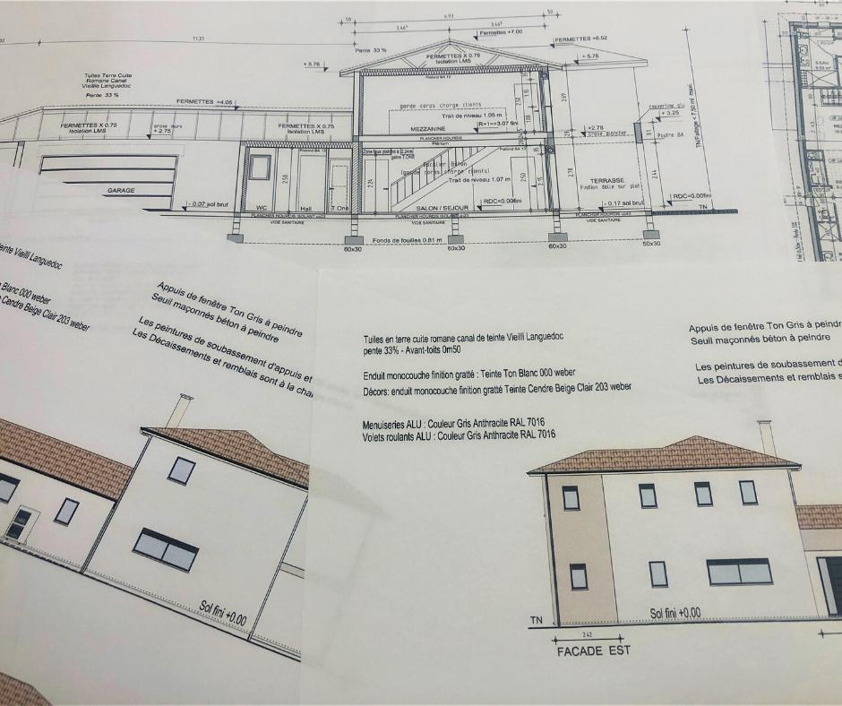 Les plans de construction d'une maison neuve
