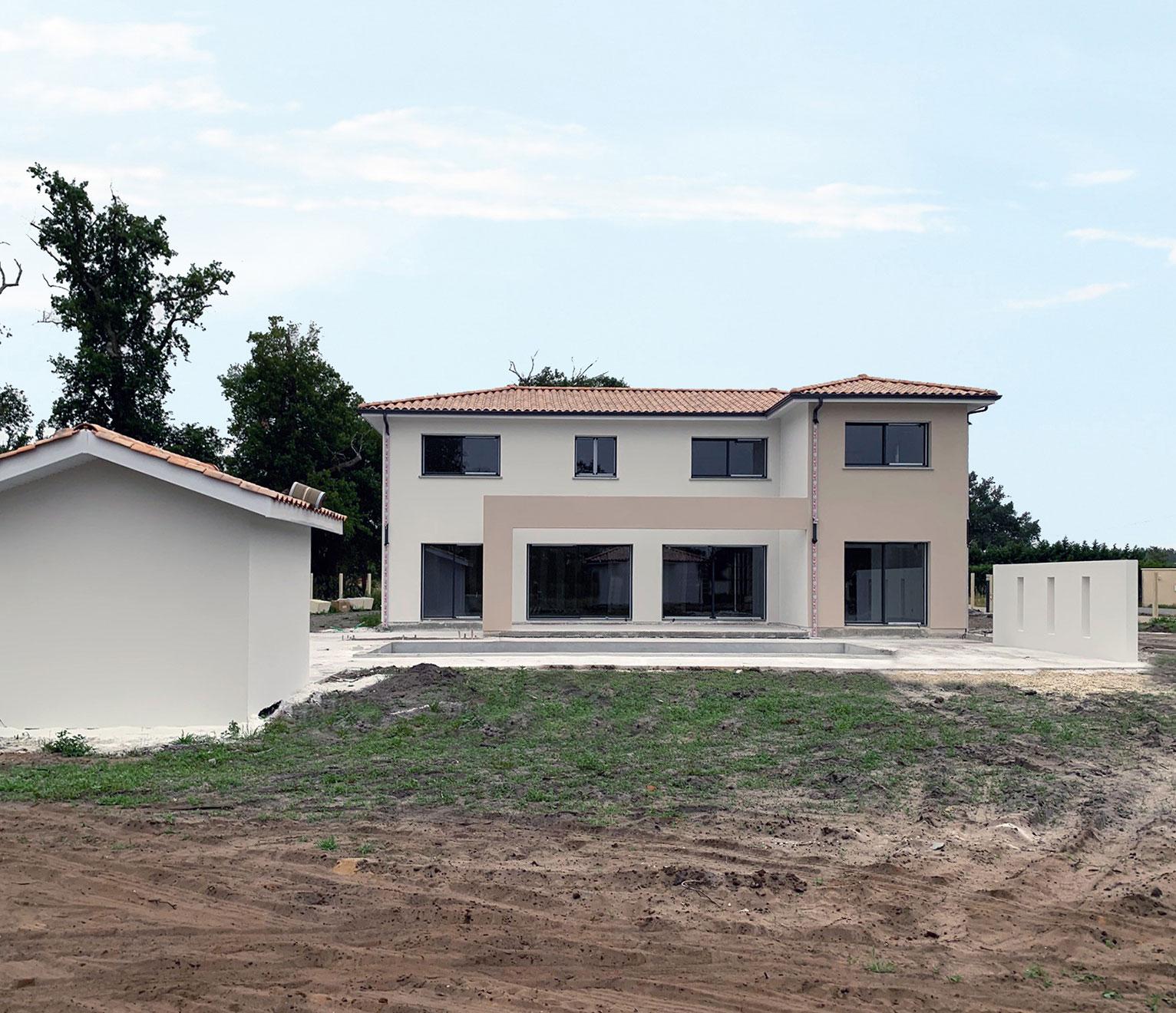 maison à étage en chantier