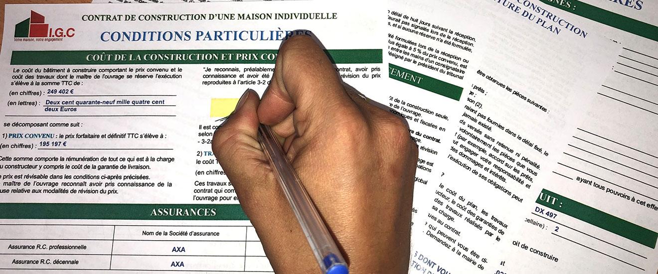 signer son contrat de construction en maison individuelle