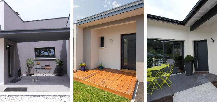 les entrées de maison avec terrasse