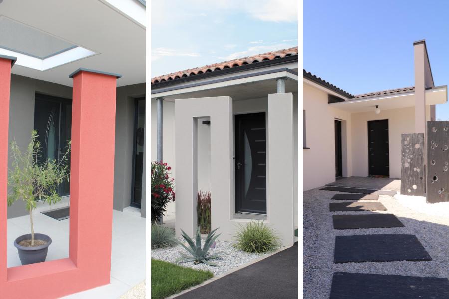 Des maisons avec entrée originales