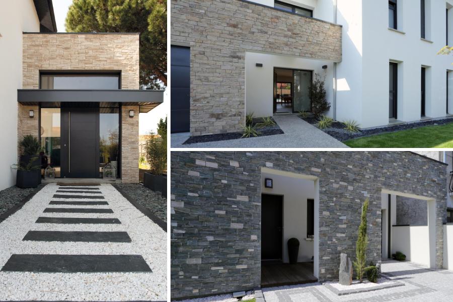 maison avec parement pierre