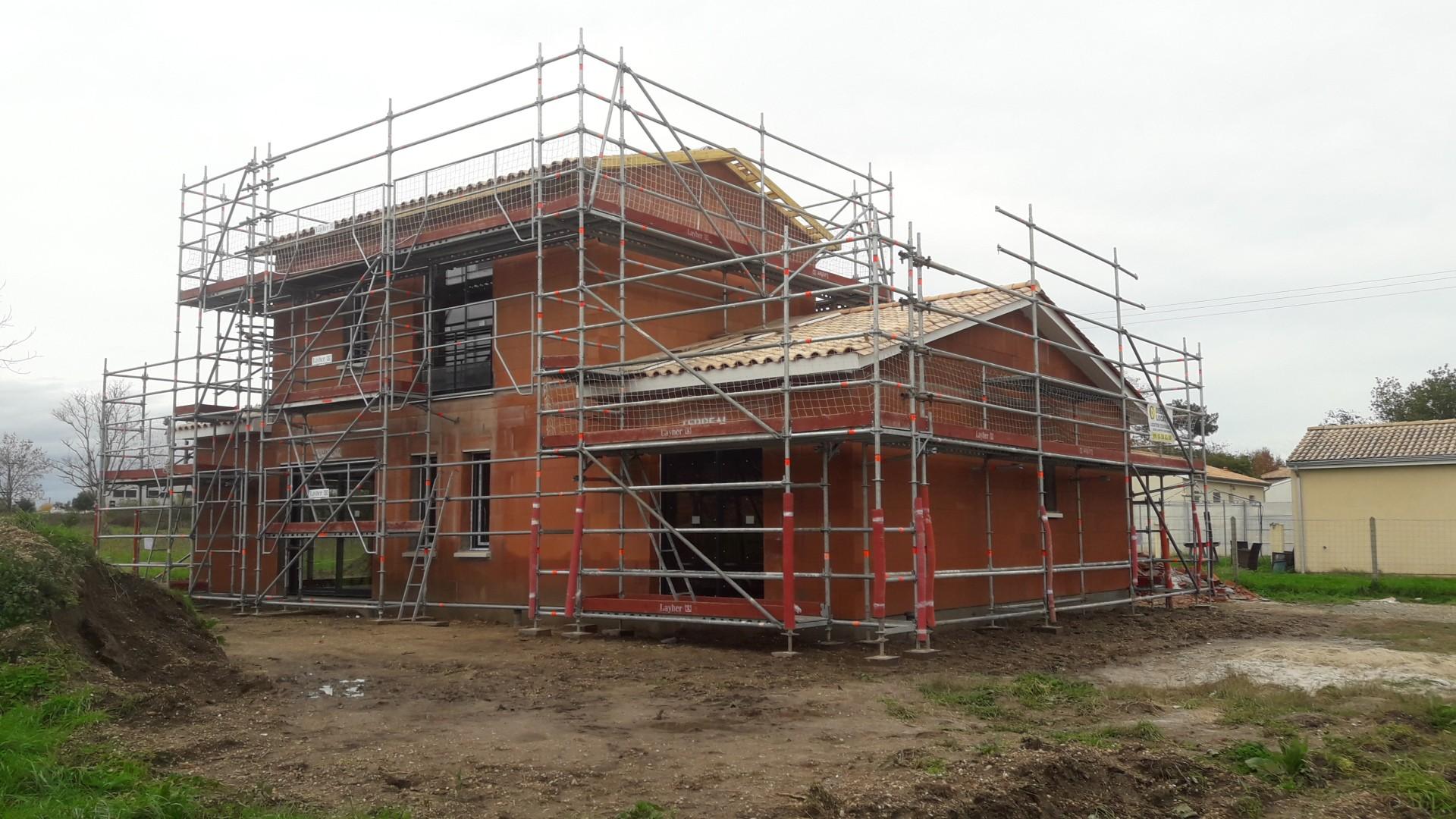 chantier de maison individuelle