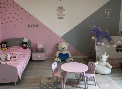 chambre enfant avec déco murale