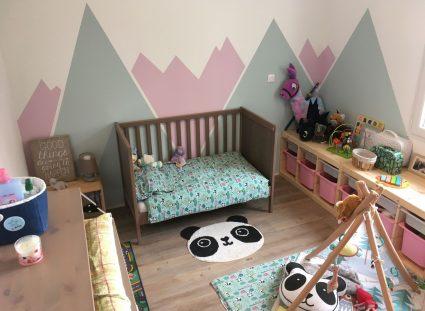 chambre pour fille avec placards a glissière