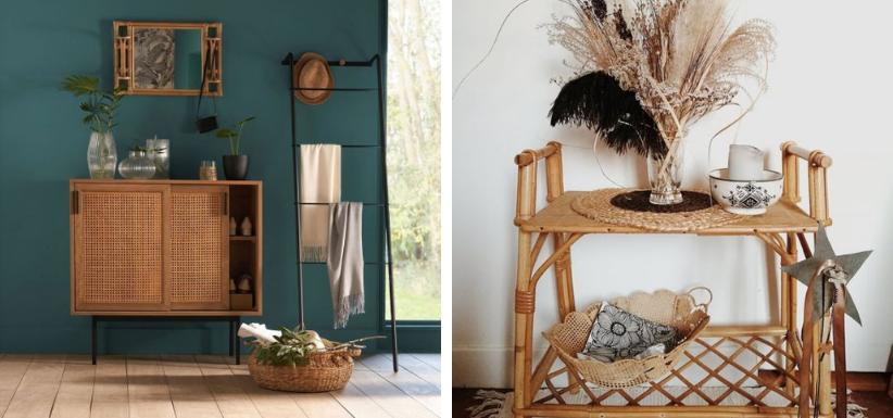 des meubles en bois dans la maison