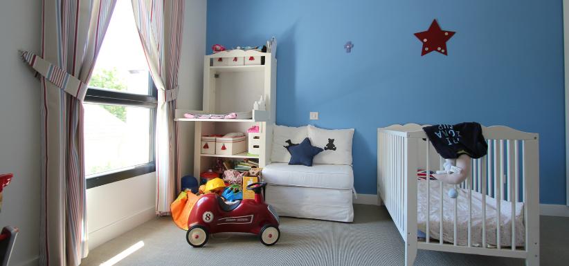 chambre pour enfant bleue