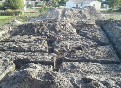 maison a étage creuser des tranchées