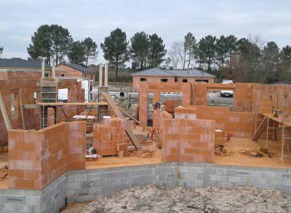 maison a étage élévation des murs